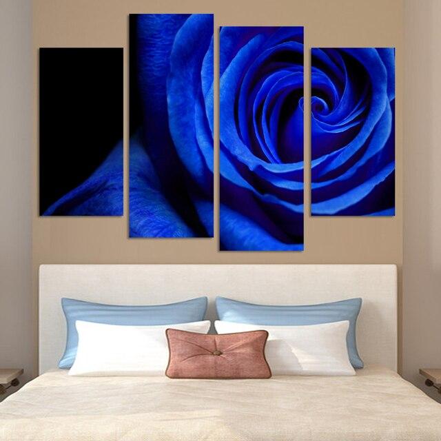 Affiche Type Bleu Rose Galerie Panneaux De Toile Et Choix De