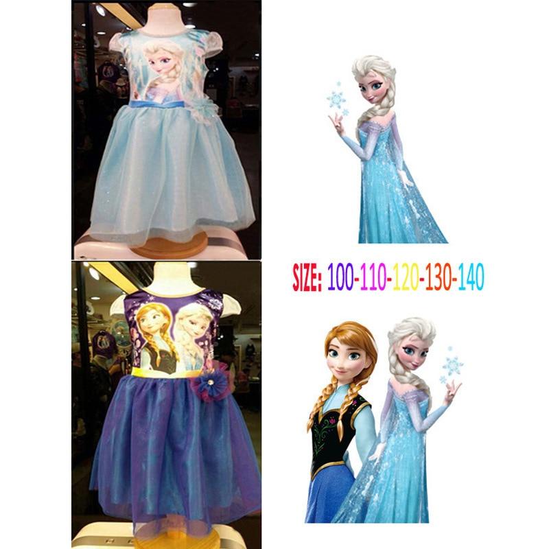d8b7483e7585 New summer girls elsa Princess dress cartoon baby girl short sleeve ...