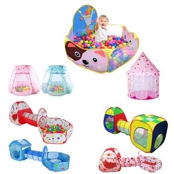 bb60993ae De interior al aire libre de poliéster jugar casa bebé océano bolas piscina  tienda de la princesa niños Hexagonal carpa niños bebé tienda bola piscina