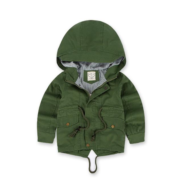 Hooded Windbreaker Jackets for Boys with Fleece Lining