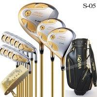 Новый Клюшки для гольфа Хонма S 05 4 звезды полные клубы установить Гольф Драйвер + дерево + утюги + клюшка + сумка графит гольф вал шлем Бесплат