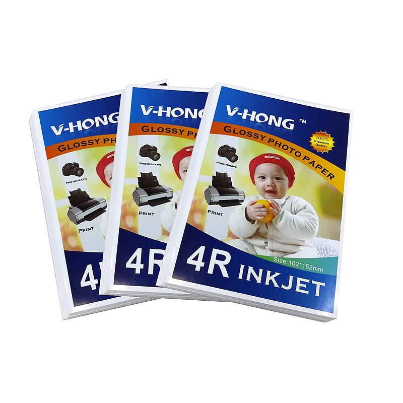 Glossy Paper A6 and 4R size apply to Office and School Home party printer waterproof photo paper