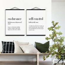 modern typography life quotes wooden framed poster nordic living room wall art print picture home decor