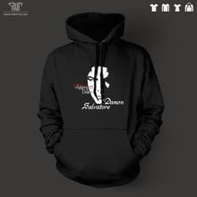 Vampire Diaries Damon salvatore original design men unisex pullover hoodie sweatershirt 82% cotton fleece inside free shipping