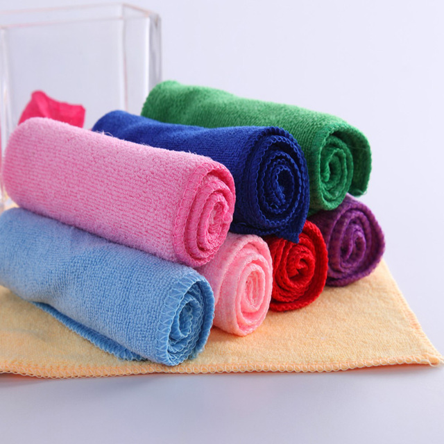Cheap 25X25cm Square Microfiber fabrics Hand Towels For Adults ...