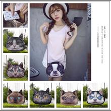 Épaule Sacs Imitation Sac À Main En Cuir Messenger Sac Belle Femelle Grande Taille Mignon Cat Anime Sac À Main 3D Femmes Sling Sacs