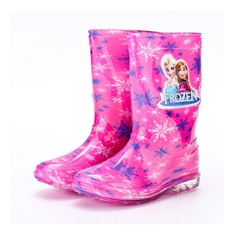 Elsa Rain Boots Kids Girls Princess Anna Rain Boots Waterproof Non-slip Water Shoes Cartoon Children Rainboots All Seasons