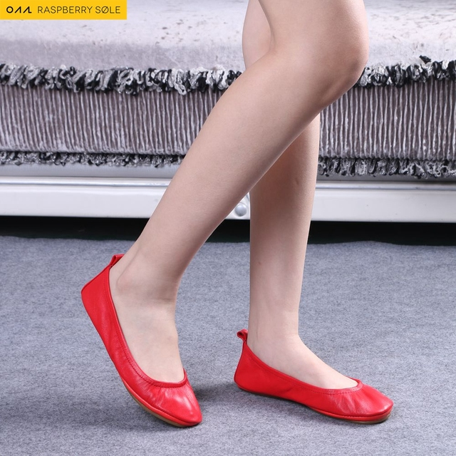 81cb49567df 2016 Fashion Brand Ballerina Shoes Women Leather Ballet Flats Foldable And  Portable Travel Flat Pregnant Shoe For Bridal Wedding
