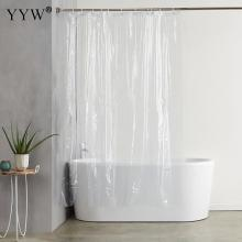1pcs Luxury Bath Shower Curtains Modern Screens Peva 3d Waterproof Curtain Transparent White Clear Bathroom