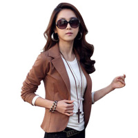 Hot Fashion Women Blazer 4 Colors Slim Coats Short Designer Jacket Long Sleeve One Button Suit