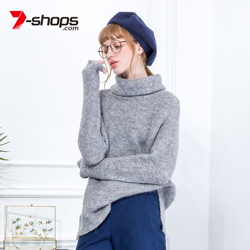 7-Shops AB0117 Wool Turtleneck Women Sweater Long Sleeve Knitted Women Jumper Drop Shoulder Tops Pullovers Female Sweaters 2018 autumn winter female long wool knitted dresses turtleneck slim lady accept waist package hip pullovers sweater dress for women