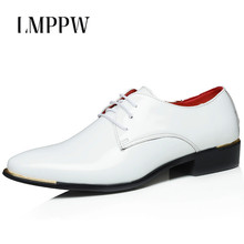 2018 Autumn Men Dress Shoes Plus Size Patent Leather Oxford Business Mens Casual Breathable Flats 2A