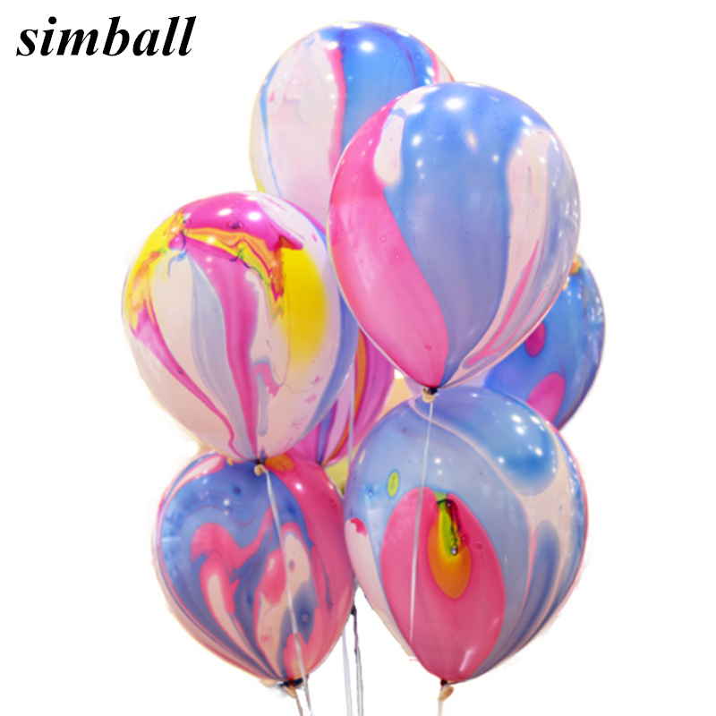 New 12inch Rainbow Printed Latex Balloons Inflatable Colorful Clouds Balloon Wedding Decoration Birthday Party Balloons Supplies