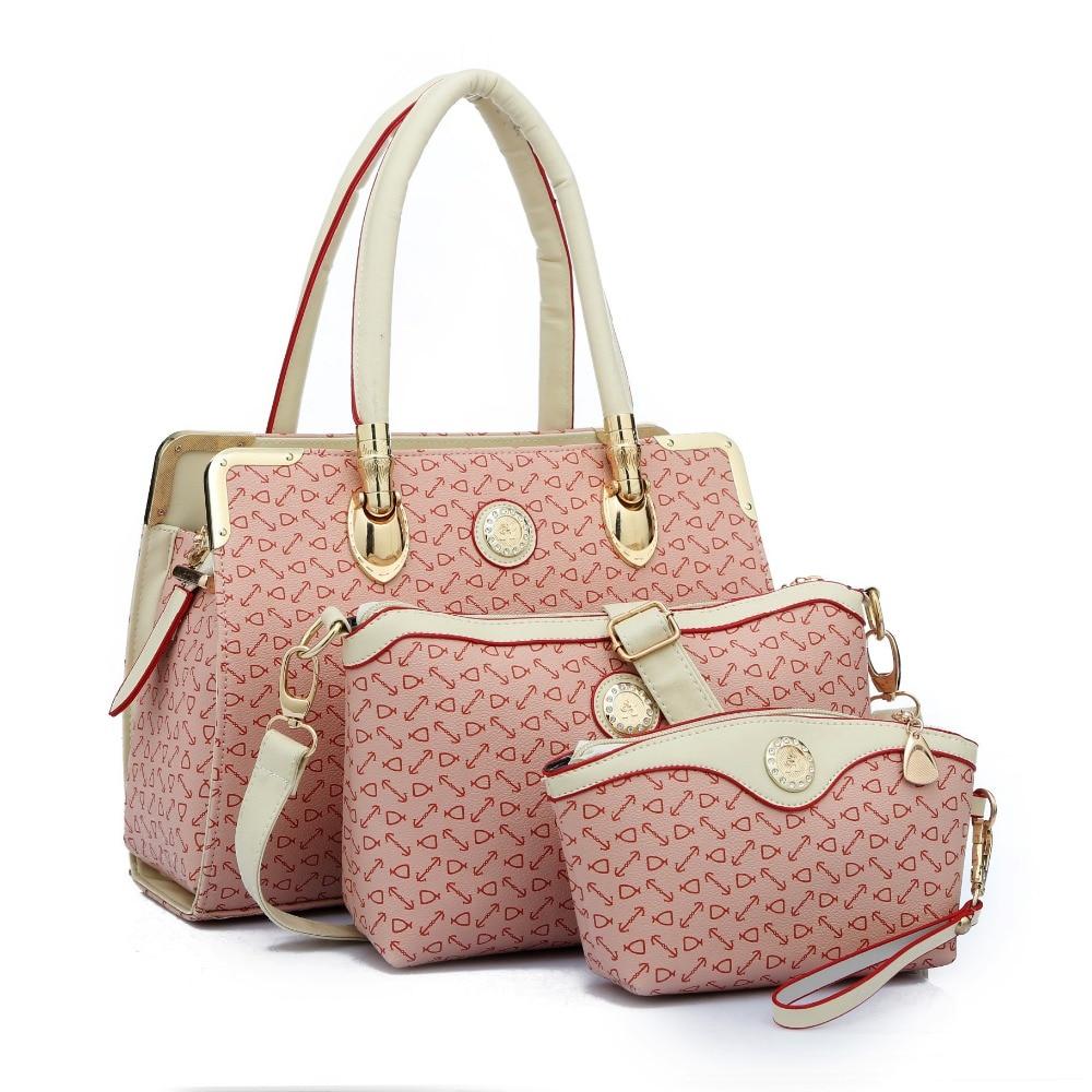 2017 Woman Handbags Female Big Bag Portable 3 piece Suit ...
