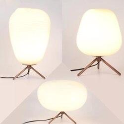 Nowoczesne AC 220V proste matowe szkło abażur lampa stołowa LED student ochrona oczu lampka do czytania pokój w hotelu lampka na biurko