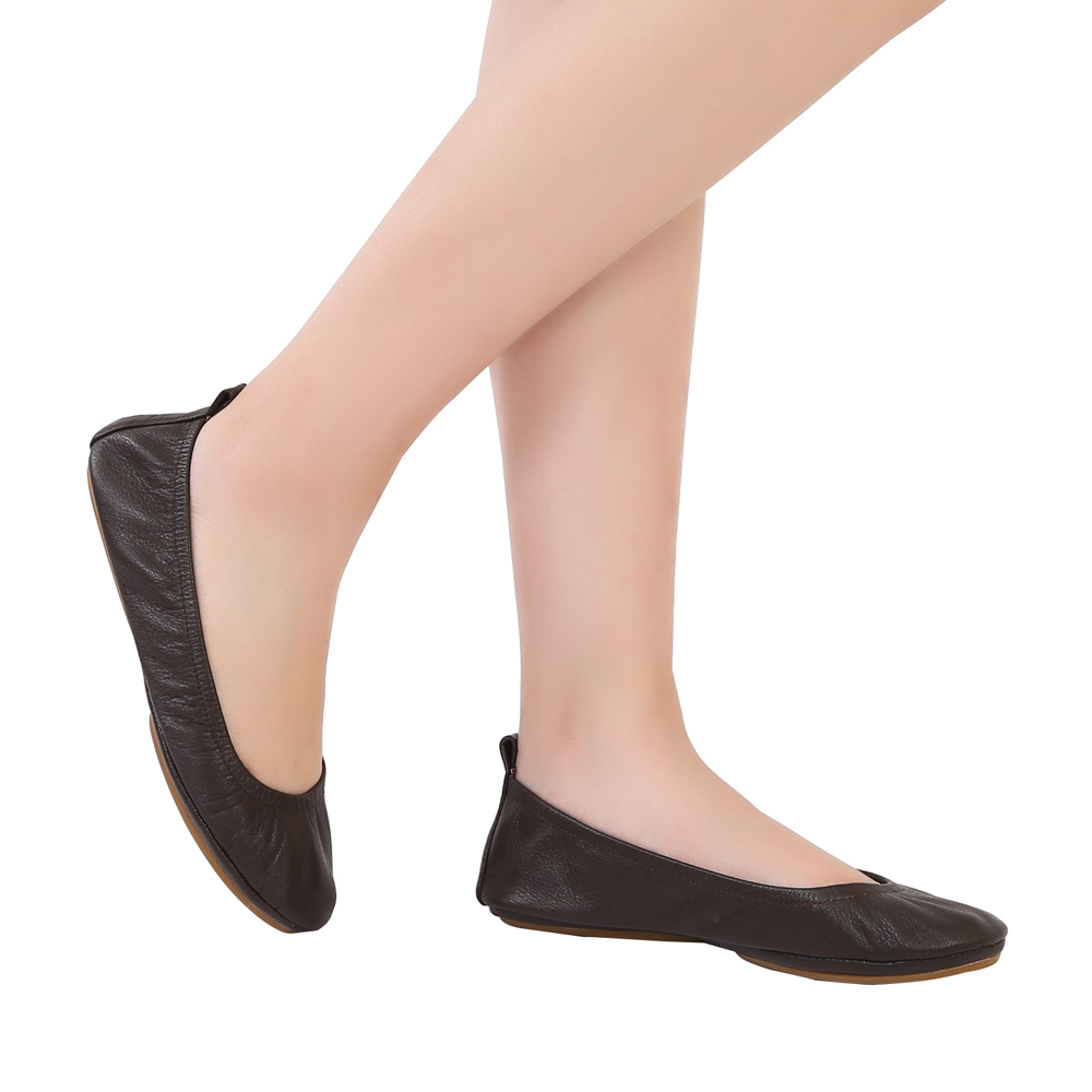 Ballerines Super Chaussures Cuir Femmes Lady En Véritable Aohaolee Confortable X8wSxPEq