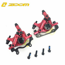 ZOOM MTB Road Hydraulic Disc Brake Calipers Front & Rear Mountain MTB Bike Disc Bicycle Accessories Free Shipping avid bb7 mtb mountain bike mechanical disc brakes calipers bicycle parts 1 pair 2pcs free shipping