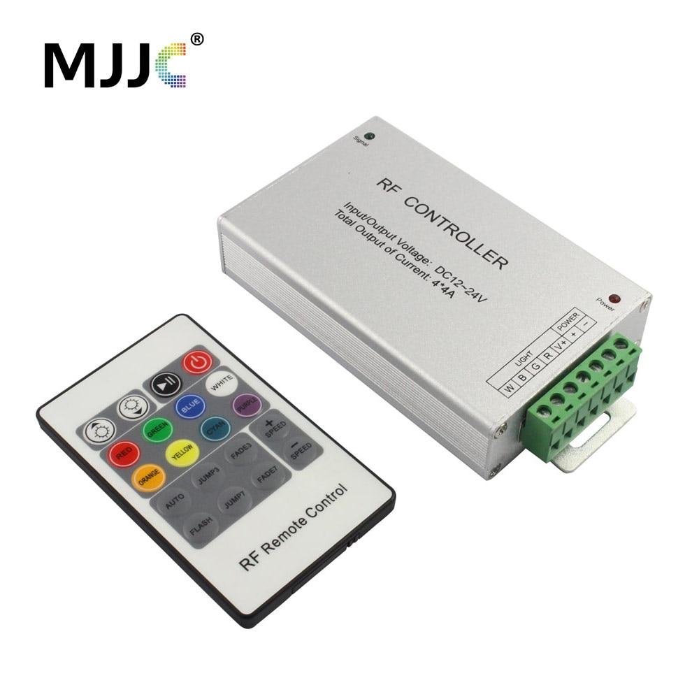 RGBW Controller 12 Volt 24V Wirelesss RF 20 Keys RGB WW LED Strip Light Controller 4Channel