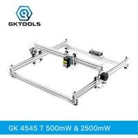 GKTOOLS 500 МВт, 2500 мвт 45*45 см мини CNC деревянный лазерный резчик для гравирования гравировальный станок DIY акрил, PWM, Benbox GRBL EleksMaker