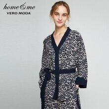 Vero Moda  Leopard Print Waistband Drop-shoulder Homewear Top | 3174P9502 все цены