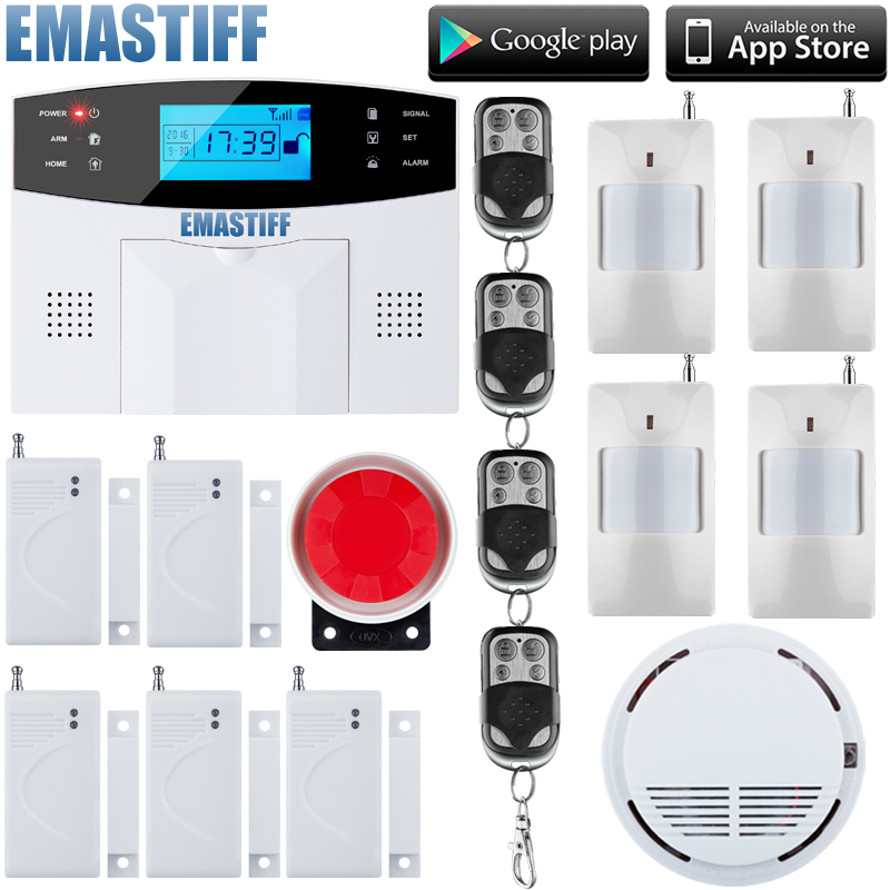 LCD Keyboard RU/SP/EG/FR/IT Voice Wireless SMS Home GSM Alarm system House intelligent auto Burglar Door Security Alarm Systems 2017 new arrival wireless sms home gsm alarm system wireless remote control house intelligent diy burglar security alarm system