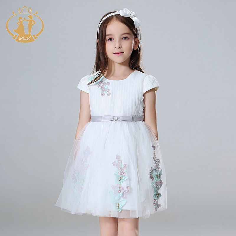 Nimble girls dress roupas infantis menina kids dresses for girls robe fille unicorn party girl dress moana princess dress spine comfort 245 37