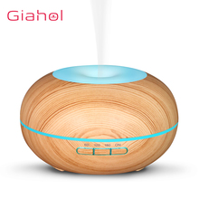 200ml Wood Grain Electric Air Humidifier Ultrasonic Essential Oil Diffuser For Office Home Aroma Treatment LED Night Light цена и фото