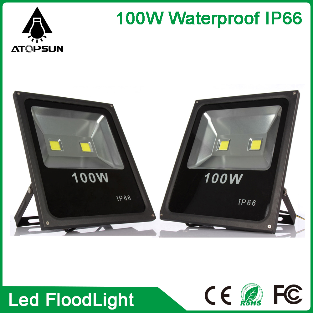 2pcs Mini 100W LED Flood Light Waterproof Floodlight Landscape outdoor Lighting Lamp Warm White IP65 High Luminous Efficiency ultrathin led flood light 200w ac85 265v waterproof ip65 floodlight spotlight outdoor lighting free shipping