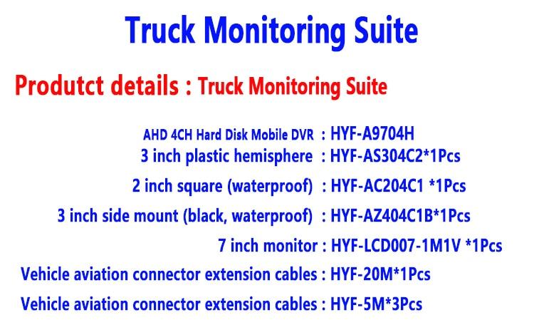 720 P 4-channel coaxial AHD kit de