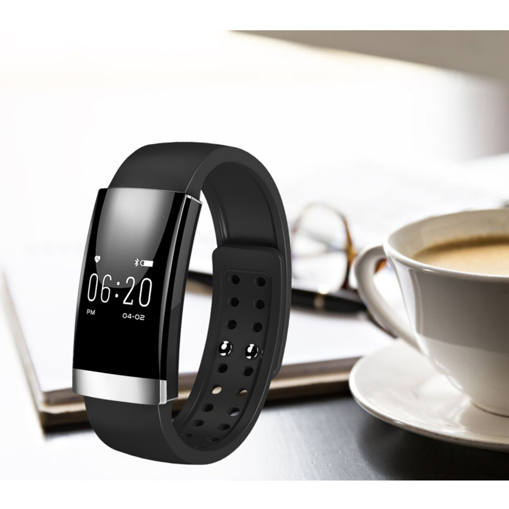 MS01 Heart Rate Smart bracelet IP65 Waterproof for IOS 7 1 above Android 4 4 above