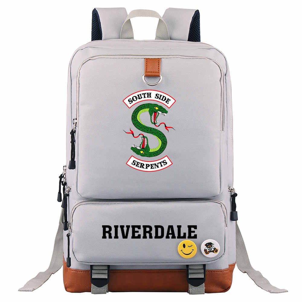 New Snake Riverdale Pop's chock'lit shoppe Boy Girl School bag Women Bagpack Teenagers Patchwork Canvas Men Student Backpack