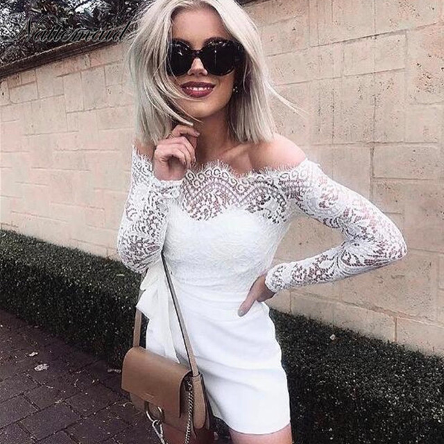 Nattemaid Women S Lace Strapless Jumpsuit Summer Bodycon Playsuit