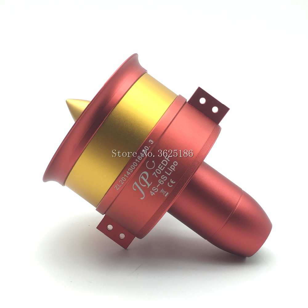 1pcs Metal JP 70mm Ducted Fan EDF Jet 12 Blades 4s 6s Lipo Motor Electric for