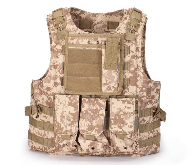 Camuflagem do exército Força Especial Homens Ao Ar Livre Colete Tático de Combate Colete Tático Colete à prova de balas anti-facada colete