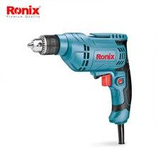 Ronix Высокое качество 220 В 400 Вт Мини электрическая дрель 6,5 мм один год гарантии электрическая дрель Модель 2107