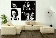 Arte de pared en vinilo pegatina cantante americana artista estrella música Bar calcomanía de café cartel hogar dormitorio decoración de diseño de arte 2YY45