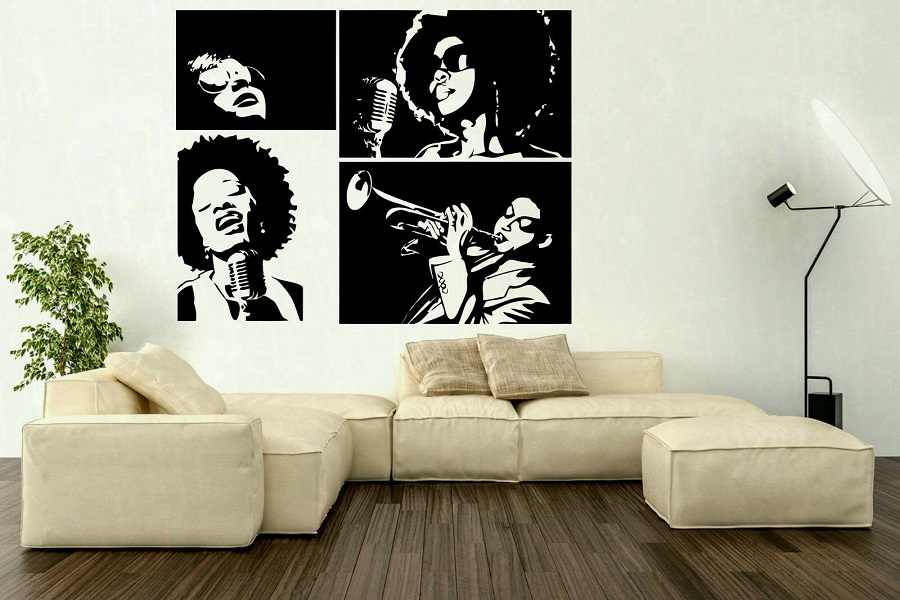 Wall Vinyl Art Sticker American Singer Star Artist Music Bar Cafe Decal Poster Home Bedroom Art Design Decoration 2YY45-in Wall Stickers from Home & Garden