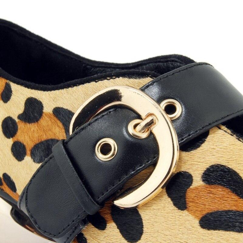 Invernali Leopardo Lisa Orcha leopard Stivali Delle Caviglia A Di Punta Tacco Signore Fibbia Black Palla Basso Alla Colore Donne Della Partito 75qwrqdc