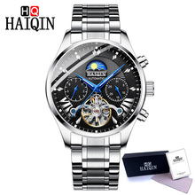 HAIQIN men's/mens watches top brand luxury automatic/mechanical/luxury watch men wristwatch mens reloj hombre tourbillon Clock