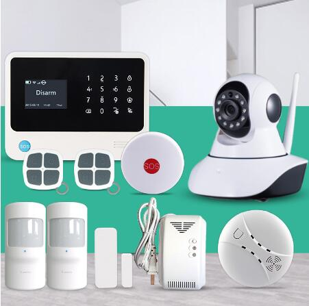 Factory security alarm system  Wireless WiFi GSM GPRS SMS Home Alarm System Smart Home Alarm System allarme gsm  motion sensor цена и фото