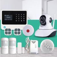 Factory security alarm system Wireless WiFi GSM GPRS SMS Home Alarm System Smart Home Alarm System allarme gsm motion sensor