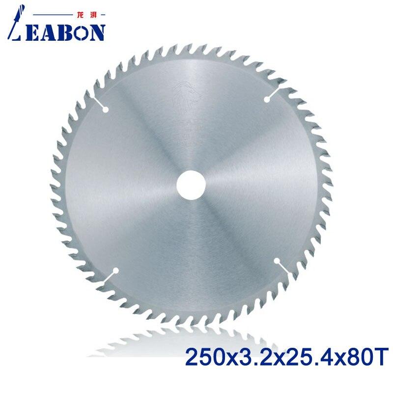 LEABON TCT Saw Blade 250x80Tx3 2x25 4mm Circular Saw Blade for Wood Cutting