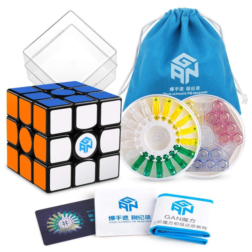 D-FantiX Gan 356 x Vitesse Cube Gan 356x Magnétique Cube 3x3x3 Magique puzzle de cubes Professionnel 3x3 Jouets (IPG V5 Version)