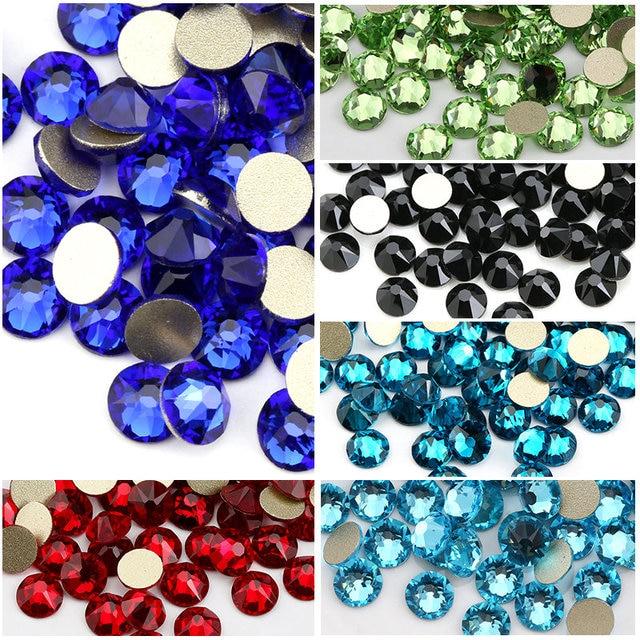 5c082d96f SS20 Many Colors 8 big + 8 small Cut Facets Nail Rhinestone Crystal Flatback  Non Hotfix Rhinestones Decoration Crystal Stones