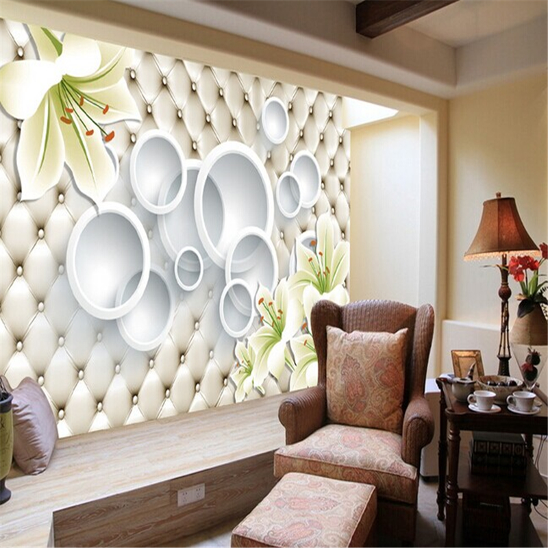 beibehang Lily mural stereoscopic papel de parede 3d visual TV backdrop wall paper living room bedroom wallpaper for walls 3 d customized any size european 3d stereoscopic relief mural wallpaper roll living room sofa tv backdrop wallpaper papel de parede