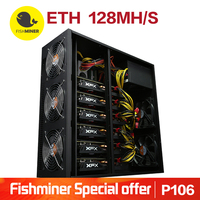 Fishminer 6 P106 Cards 128 Mhash S Ethereum ETH Mining Machine Coin Mining Miner Blockchain Computer