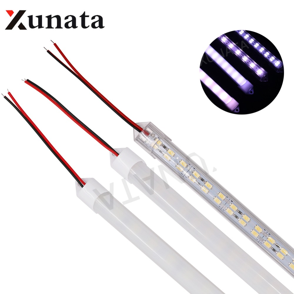 DC12V 72Leds/pc 0.5m/pc IP68 Waterproof Outdoor White Warm White LED Hard Strip 5630 Double Row LED Strip Cool White
