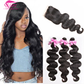 Malaysian Body Wave With Closure Malaysian Virgin Hair With Frontal Closure 8a Grade Virgin Unprocessed Human Hair With Closure