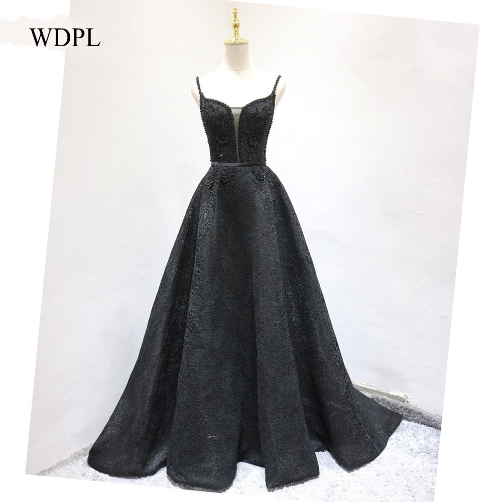 Evening Gowns Elegant Black Abendkleid Formal Evening Dress Long ...