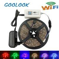 DC12V 2835 RGB LED Strip Light Waterproof Diode Flexible Tape 5m 10m 15m 20m Smart Wifi